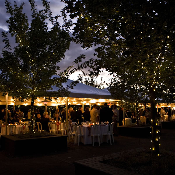 Evening Wedding Reception - Event and Party Rentals - Tents