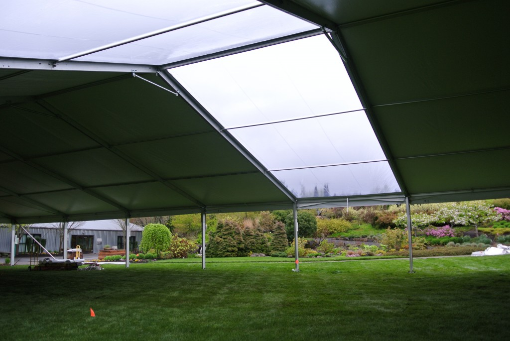 Tent with Skylight Panels